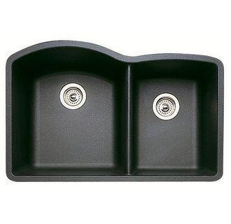View The Blanco 440179 Diamond 32 Double Basin Undermount Silgranit Ii Kitchen Si Composite Kitchen Sinks Drop In Kitchen Sink Granite Kitchen Sinks