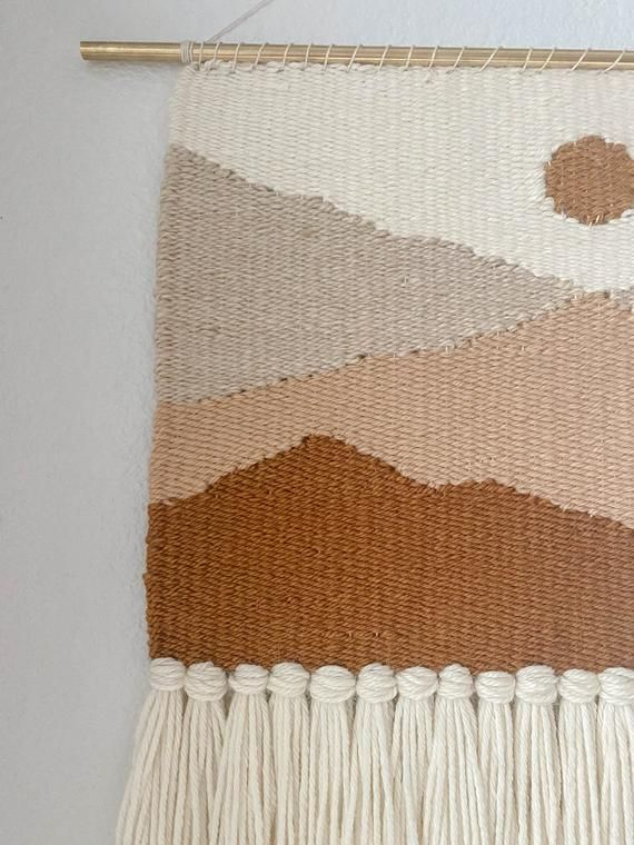 Mountain Weaving//Weaving Wall Hanging//Woven Wall Hanging//Weaving//Gifts for her//Yarn wall hangin