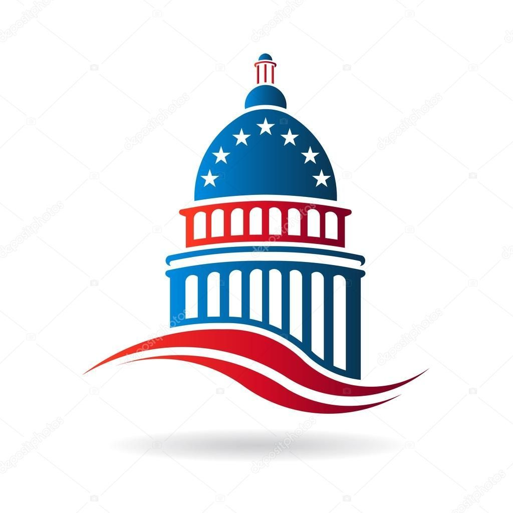73073974615f Vector Capitol building in red white and blue  usa  capitol  america  logo   graphic  government  travel  landmark  capital  american  dome  washington   city ...