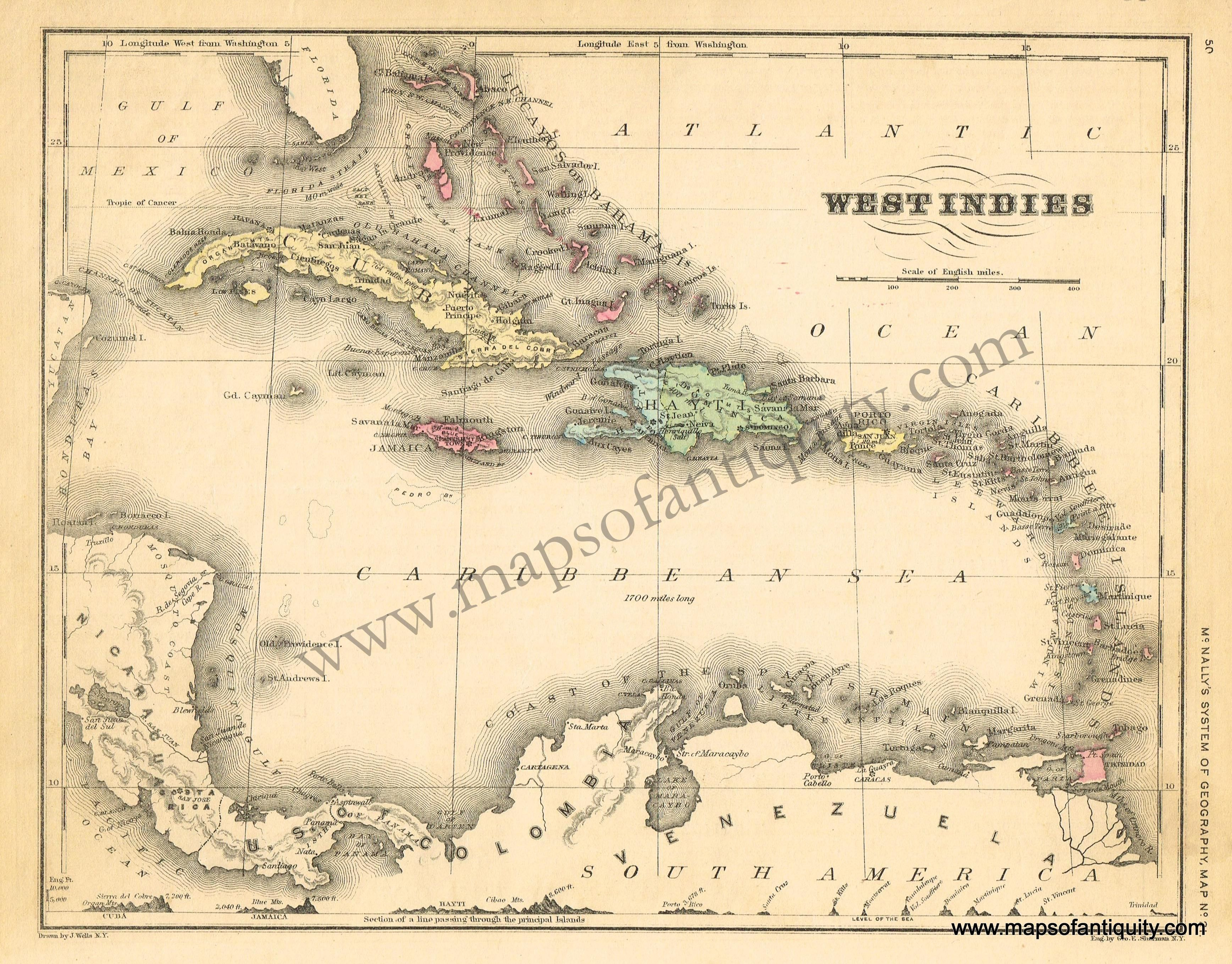 West Ins Antique Maps And Charts Original Vintage Rare Historical Prints Reproductions Of Antiquity