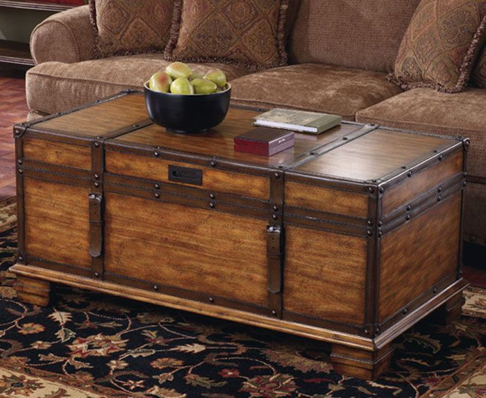 Wooden Chest Coffee Table Chest Coffee Table Wooden Trunk
