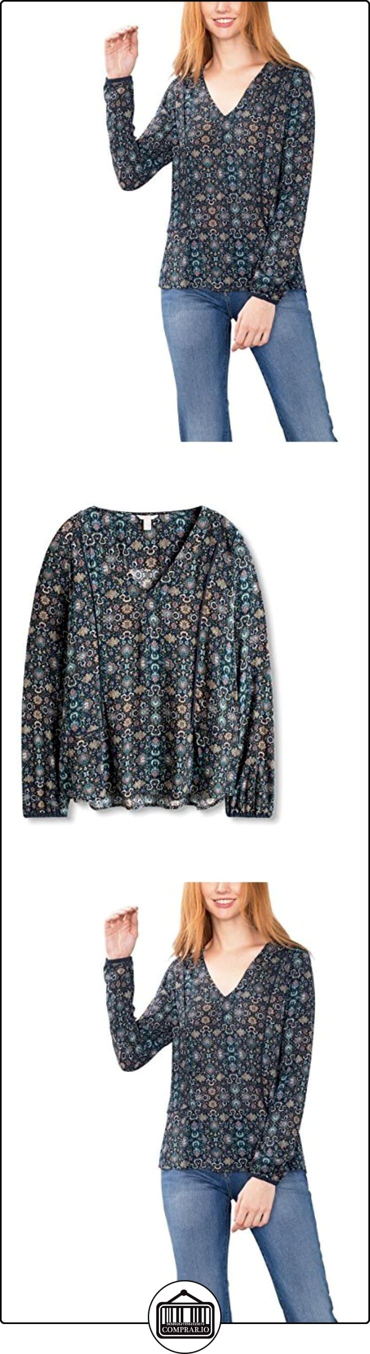 ESPRIT 086EE1F019, Blusa Mujer, Multicolor (NAVY), 34  ✿ Blusas y camisas ✿