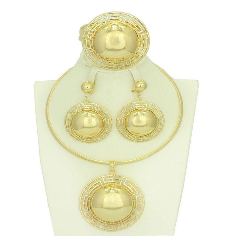 SalesBig Ethiopia jewelry Dubai Gold Plated Jewelry Necklace