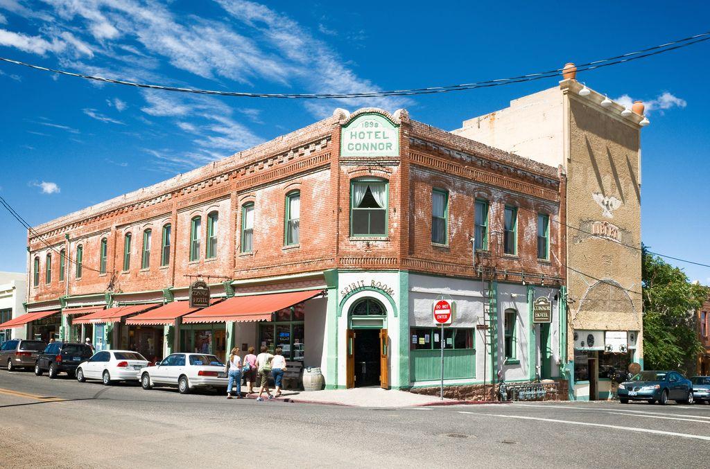 Main Street, Jerome, Arizona (1876), pop. 450 | Hotel