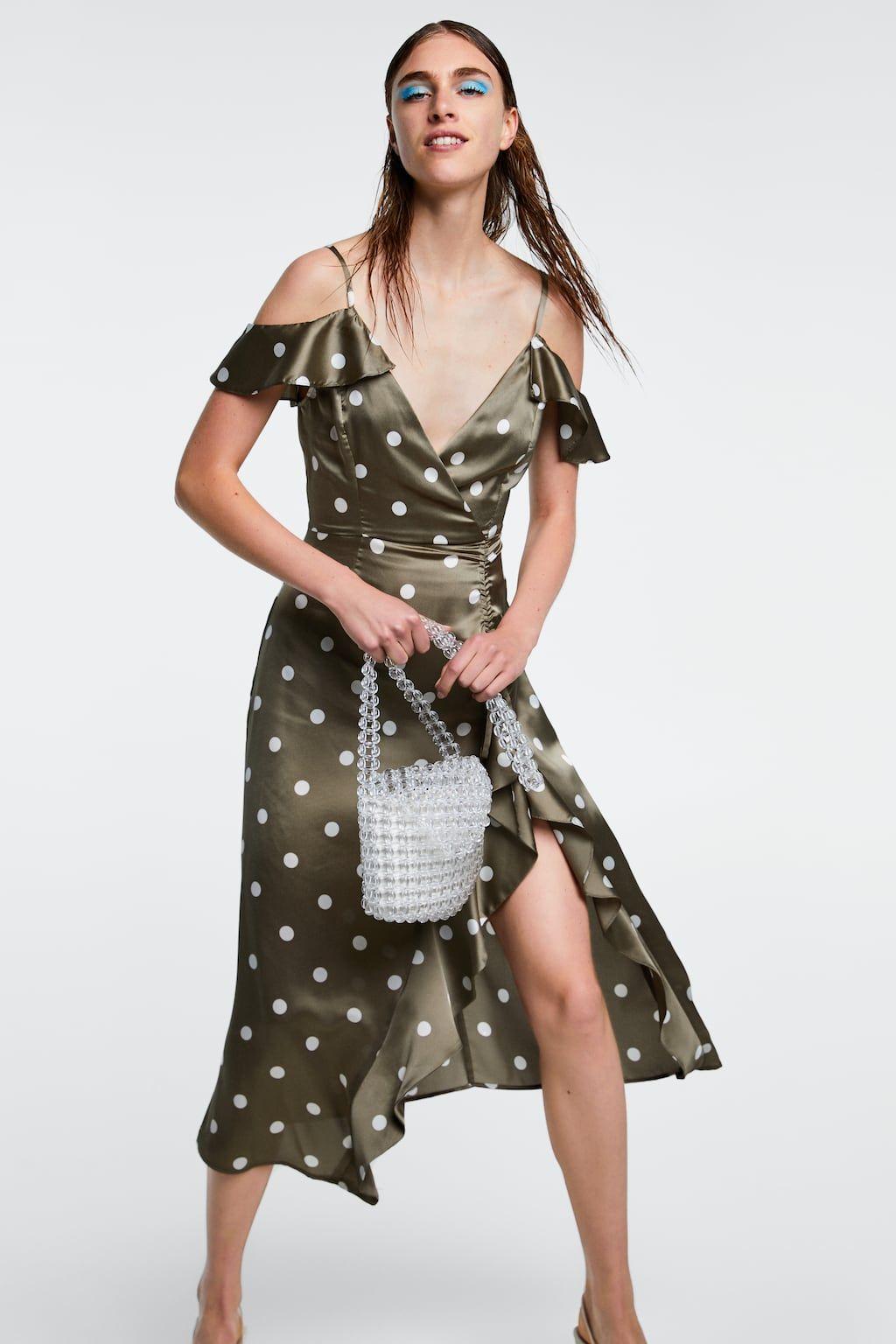 Image 5 Of Polka Dot Dress From Zara Polka Dot Dress Dot Dress Dresses [ jpg ]