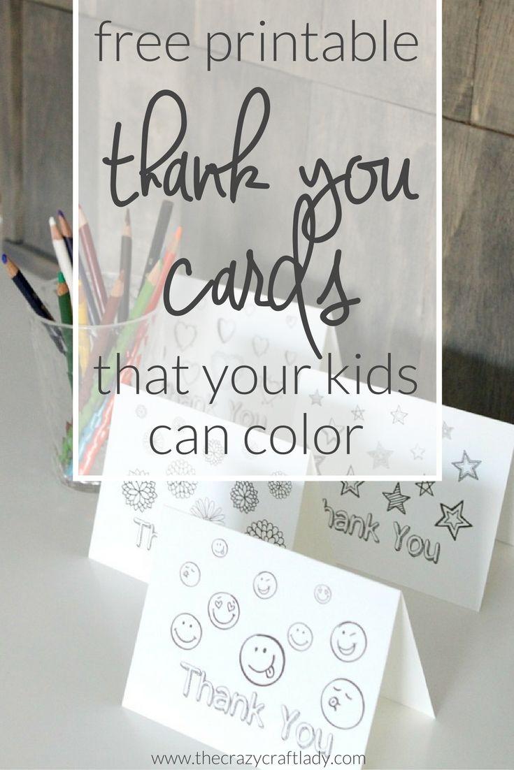 Printable Thank You Card Coloring Sheets Printable thank