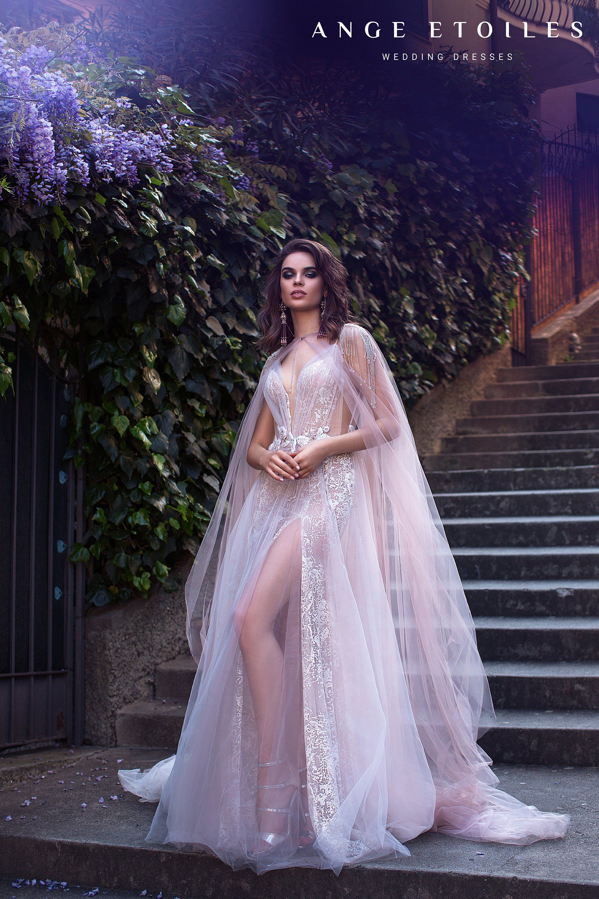 Photo of Wedding dress AFINA with long train by Ange Etoiles • Ange Etoiles collection 2019 – 0Princess diaries