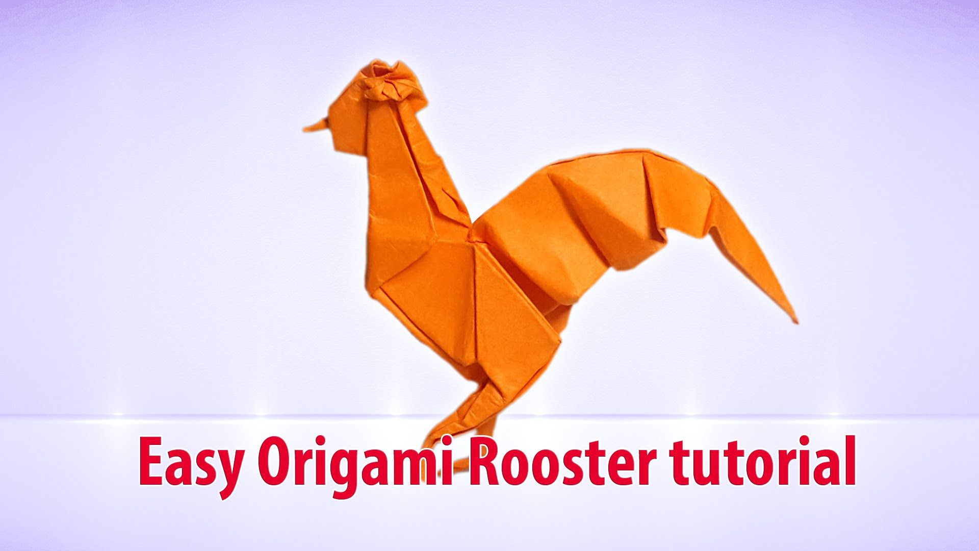 Easy Origami Rooster Tutorial THs