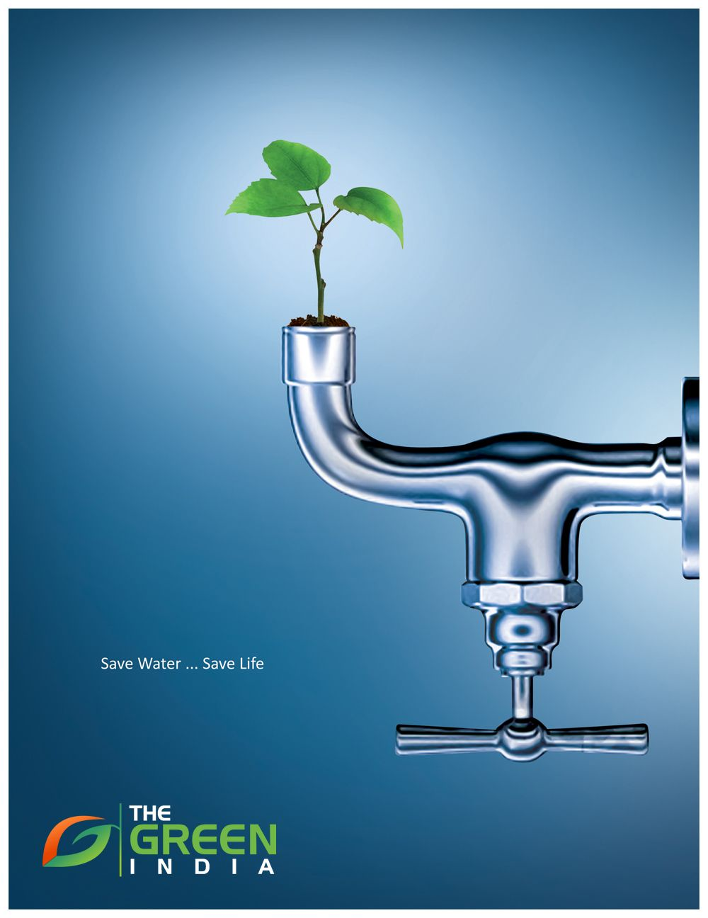 Poster design on save water - Save Water Save Life