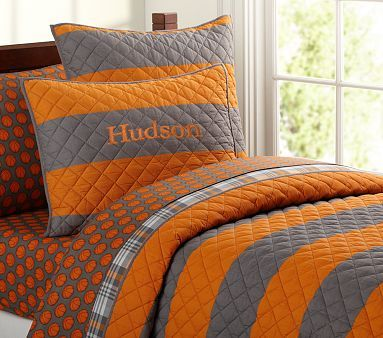 Boys Orange Bedding, Gray And Orange Bedding