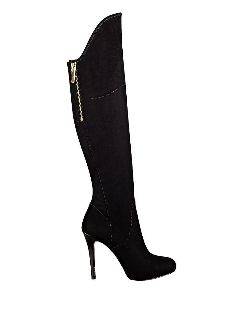 sexy knee high boots!!  Verina Over-The-Knee Boots | GUESS.com