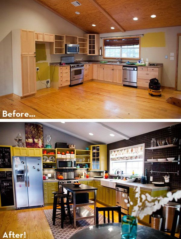 Before After A Colorful Diy Play Kitchen If You Re Ready For
