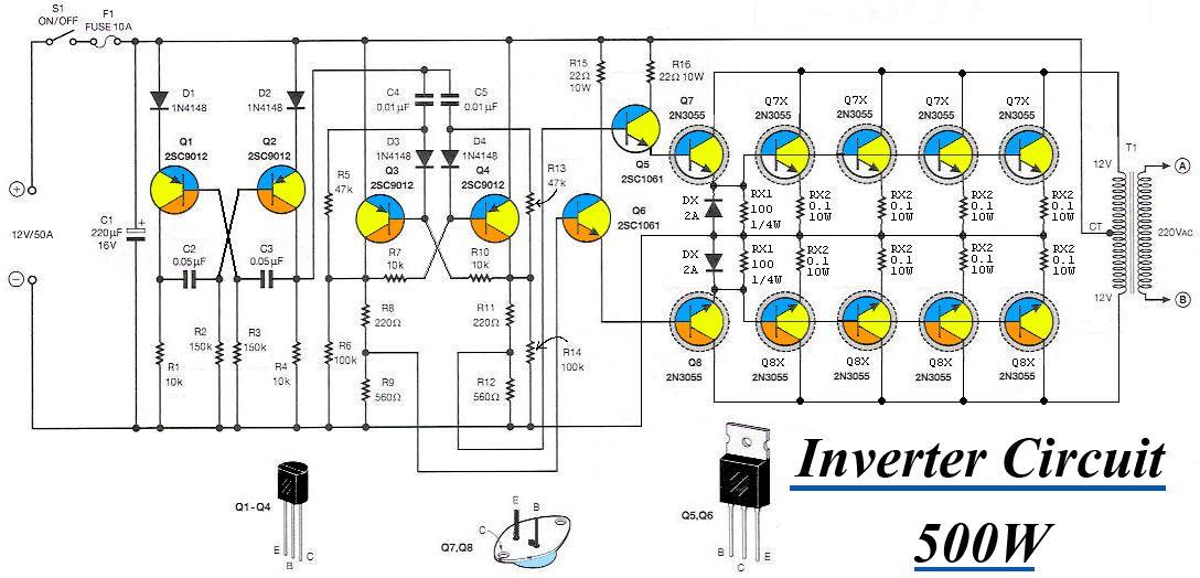 Inverter 12VDC to 220V 50Hz 500W | Inverter Converter in