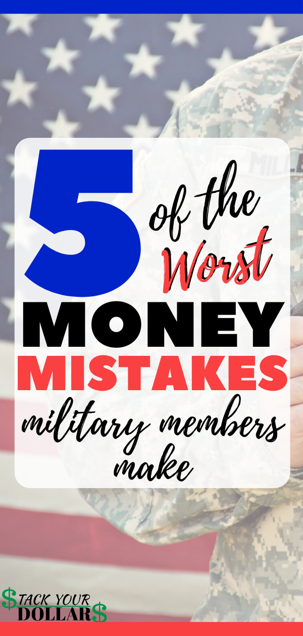 Looking for ways to keep your finances in order while in the military? If so, you'll want to check out this article so that you can avoid the common money mistakes military members make and learn how to best save money in the military so you can achieve financial freedom! Who wants to live a life of debt and stress? Not me! And you don't want to, either. Military finances are easier to manage when you have the advice you need for financial success! #military #stackyourdollars #militarytips #army