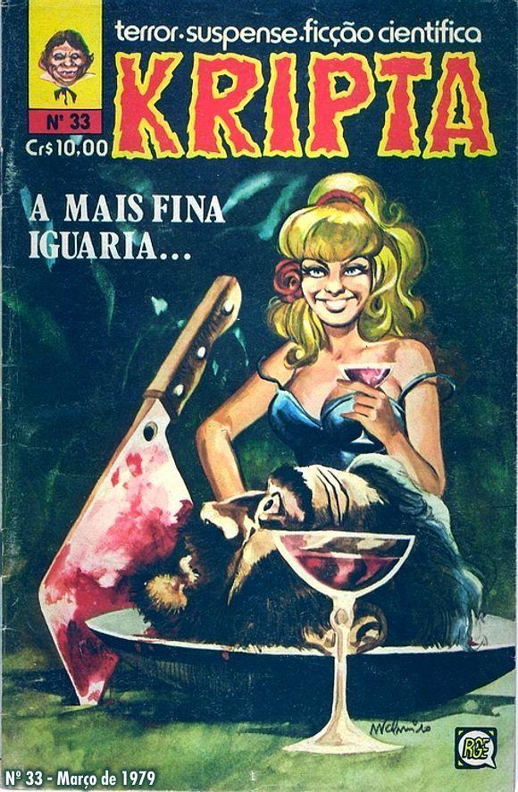 Revista Kripta #33 - RGE (1976) - Quadrinhos de terror, suspense, ficção e sobrenatural