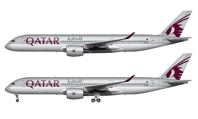 Illustration Norebbo Airlines Branding Airbus Qatar Airways