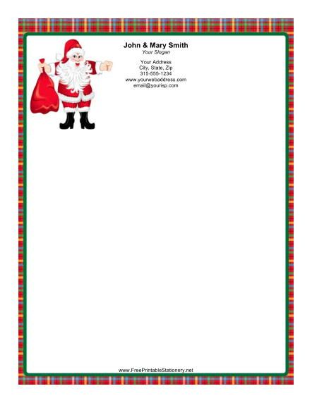 Santa claus is the star of this christmas stationery he comes santa claus is the star of this christmas stationery he comes with a red bag spiritdancerdesigns Images