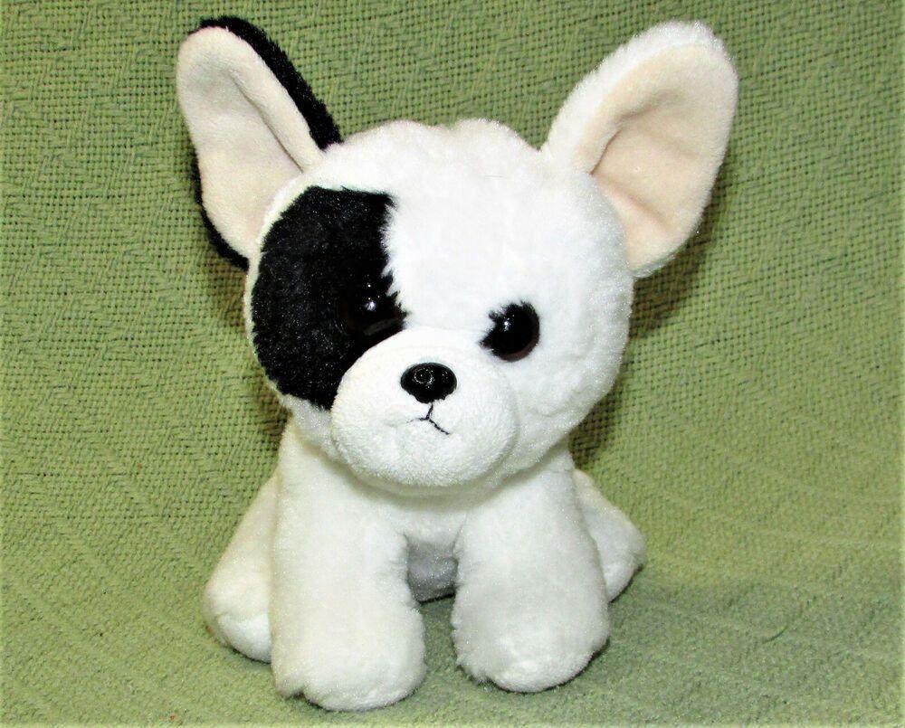 Details About Ty Velvety French Bulldog Marcel White Black Stuffed Animal Plush Puppy 6 Toy Black Stuffed Animal Plush Dog Bulldog