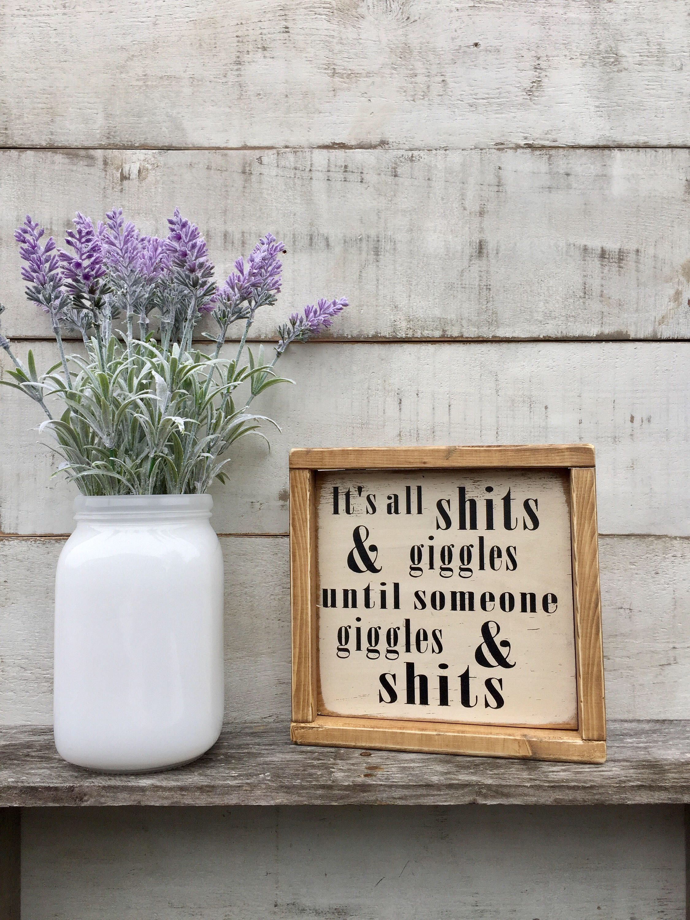 Bathroom Decor Signs Bathroom Sign Wood Sign Bathroom Decor Humor Funny Rustic