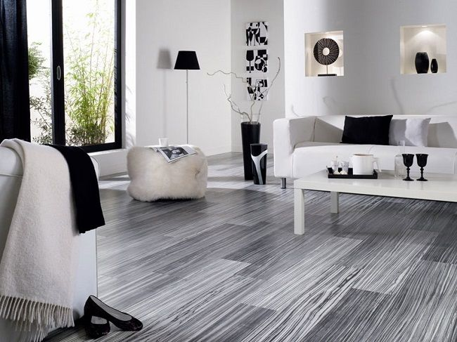 15 Parchet Laminat Gri Decor Living Modern In Alb Si Negru