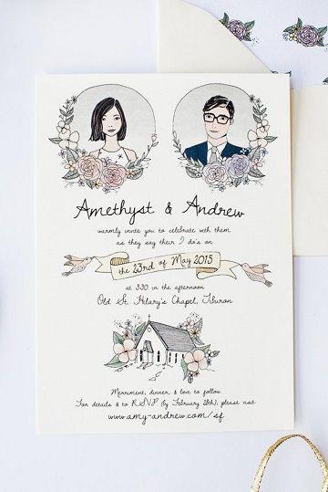 Originales Diseños De Tarjetas De Matrimonio Civil
