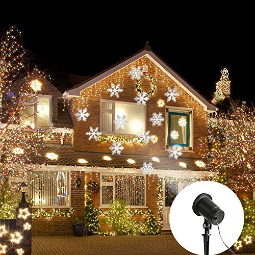 Eambrite Moving Flurry Snowflake Spotlight LED Projector