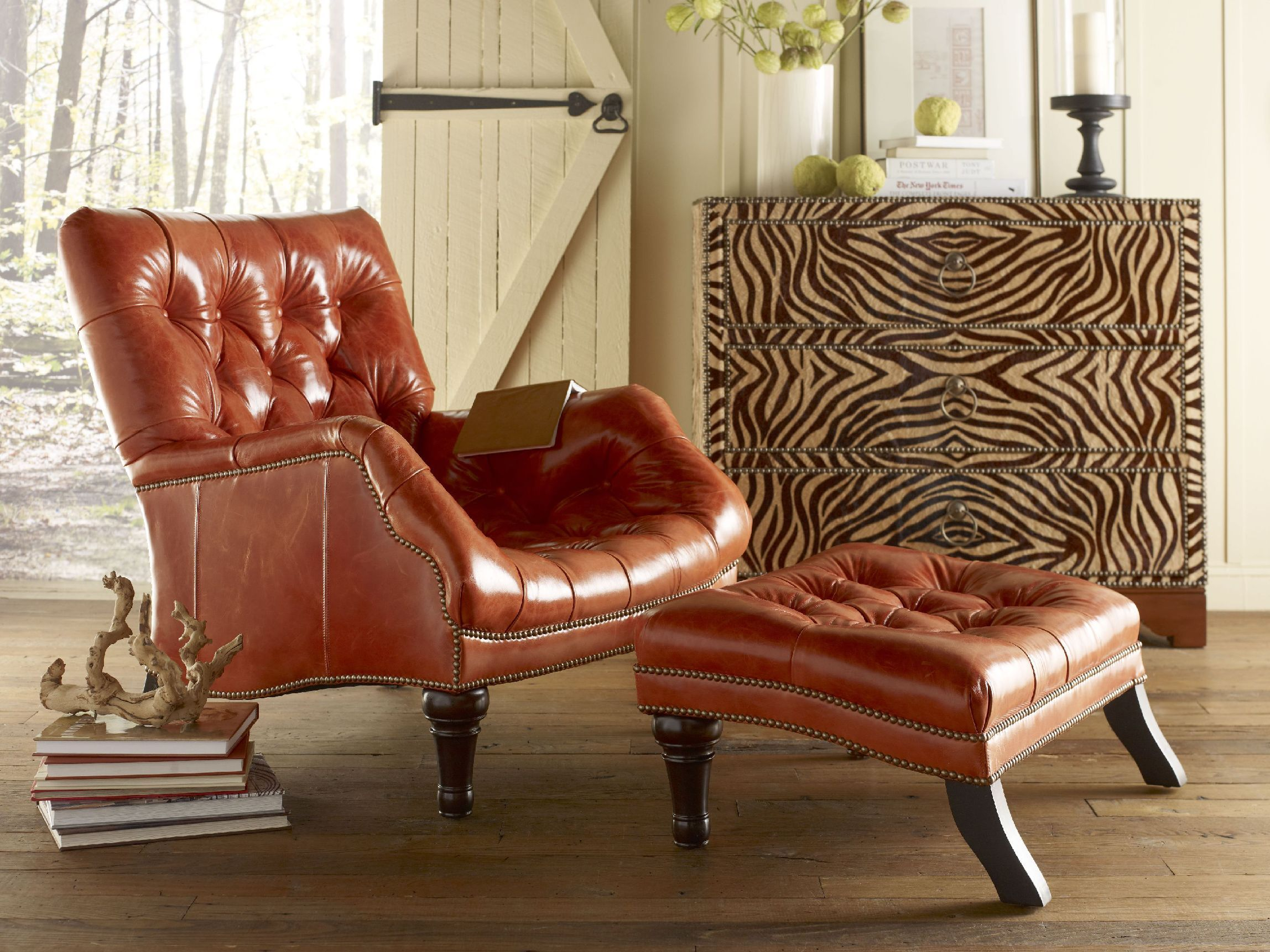 Chaddock Living Room Sleepy Hollow Chair (Leather) L 0278 1   Chaddock