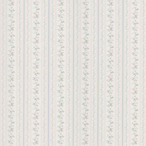 Blue Floral Stripe Wallpaper At MenardsR