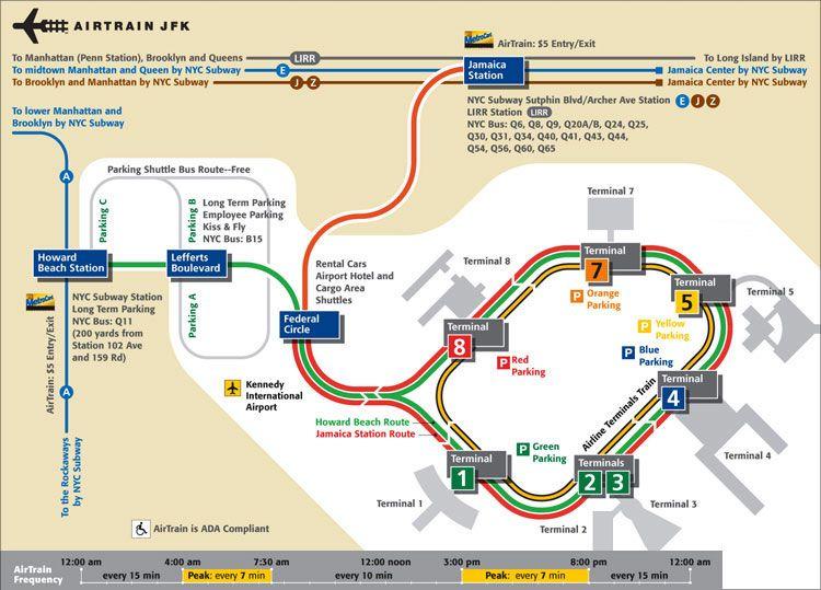 Airport Map for JFK International Airport | JFK | Kennedy