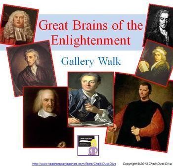 Enlightenment Philosophers GALLERY WALK ACTIVITY | Fun activities ...