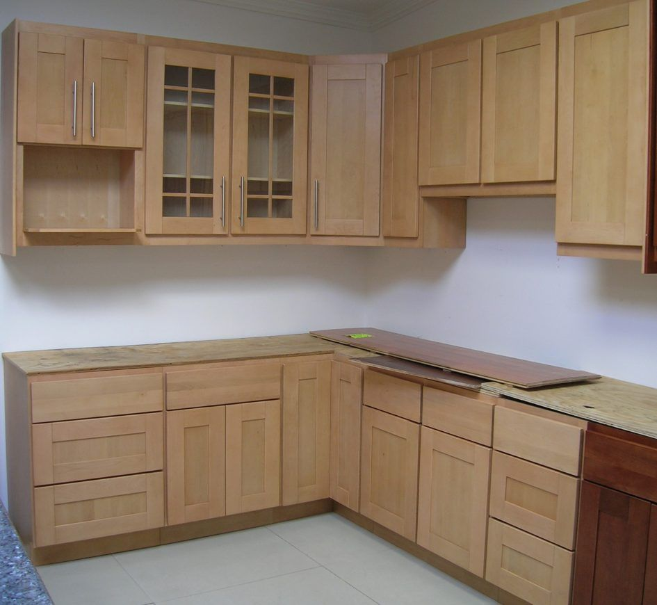 Kitchen Unfinished Cabinet Ideas L Shaped With Hinges Stainless Steel Above Ceramic Floor Handles In Good Shape