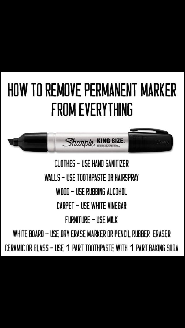 Lifehack for sharpie stains