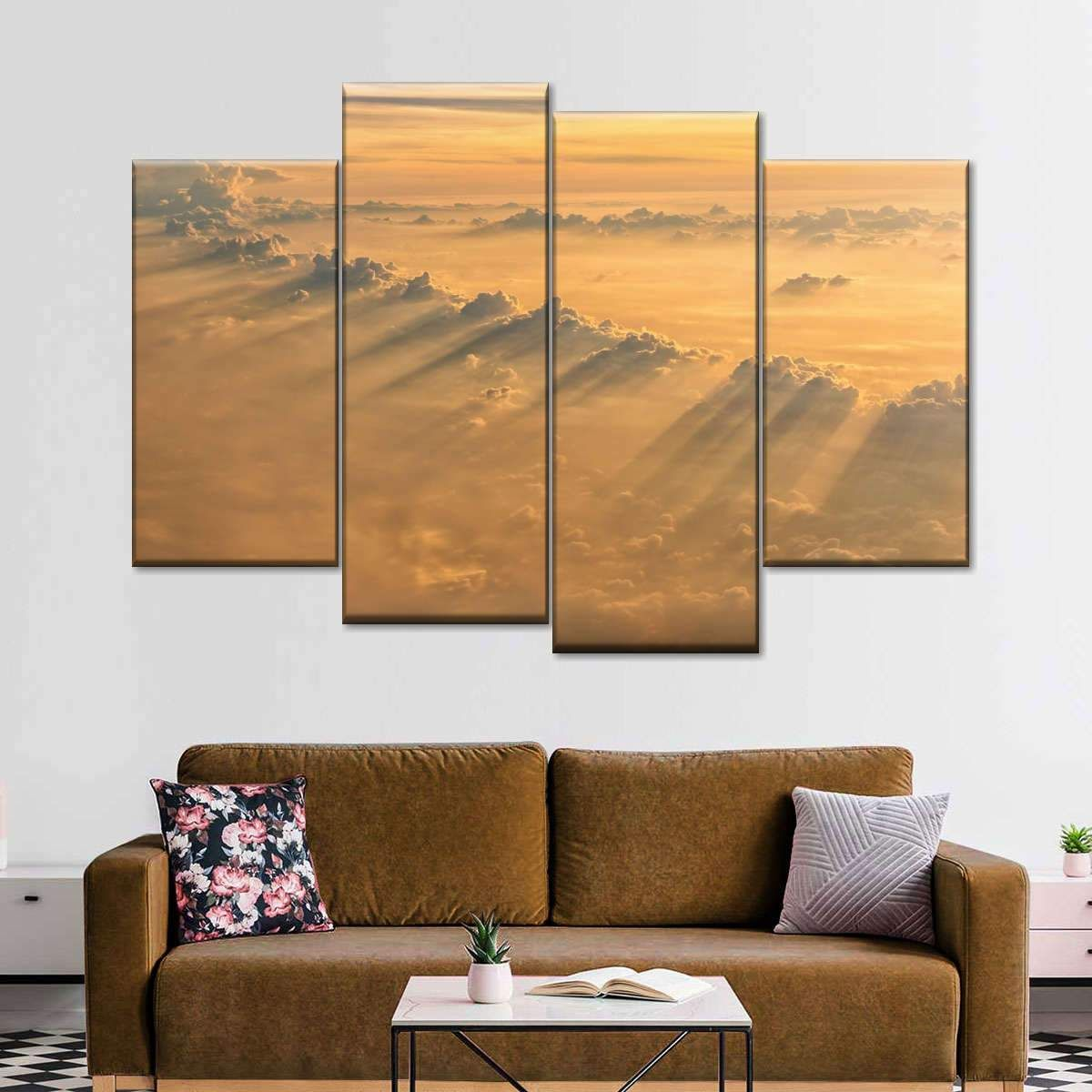 Sunrays From Heaven brings blissful art to your living room space. This beautiful canvas print blends in seamlessly with any decor style and color palette, while adding a fresh touch from the outdoors.