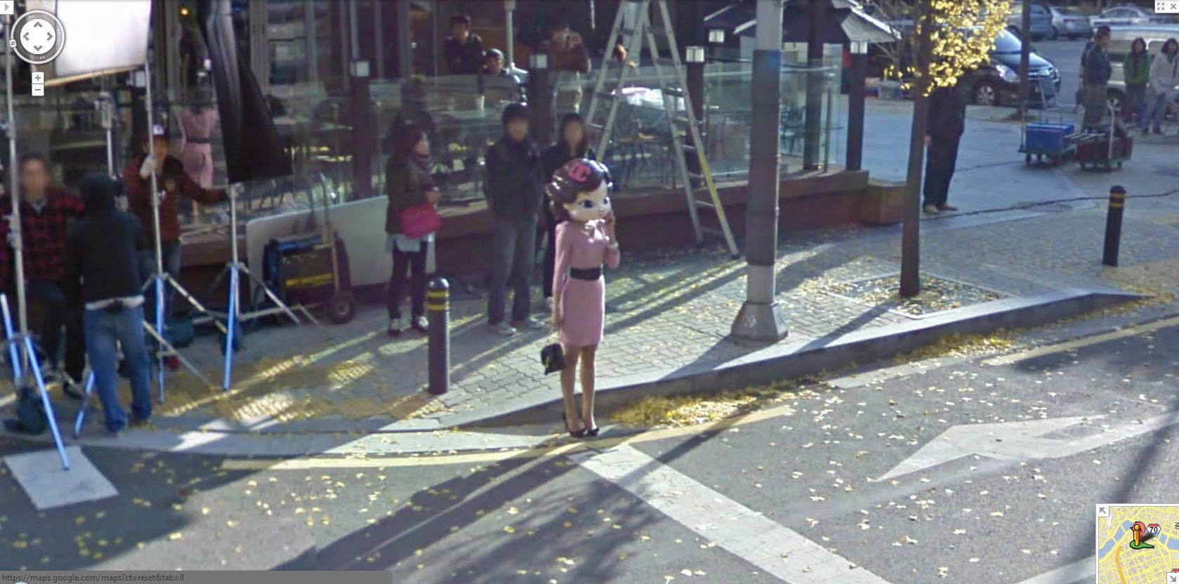 Google street view captures a girl being filmed in korea is she google street view captures a girl being filmed in korea is she real gumiabroncs Choice Image