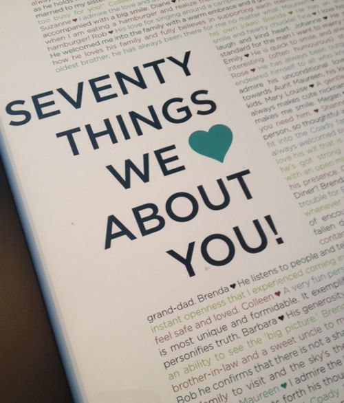 70 Things We Love About You