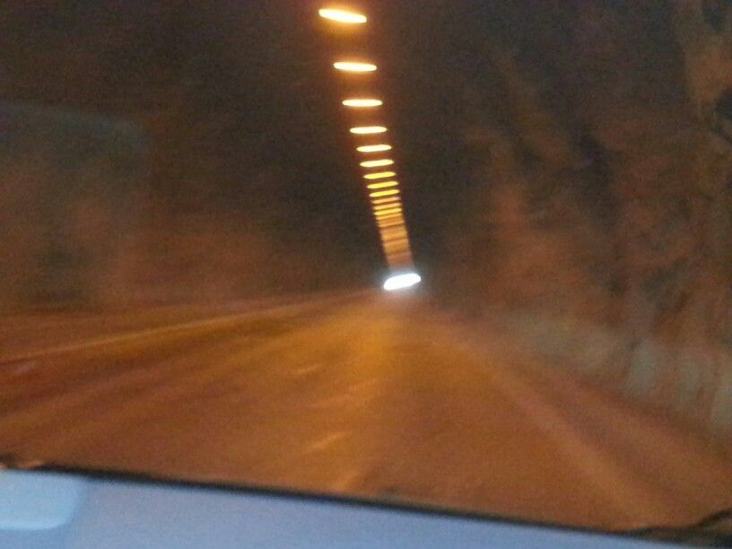 Tunnel before beauty!
