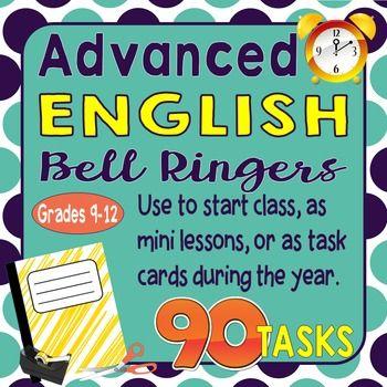 Advanced English Bell Ringers Entire Semester AP English