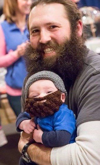 Facial hair has infant are