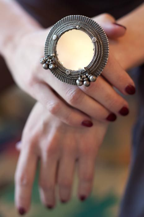 Mirrored finger ring projects to try pinterest for East indian jewelry online