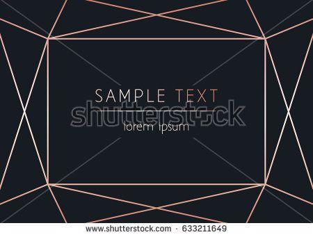 Vector modern design template for wedding or birthday invitation