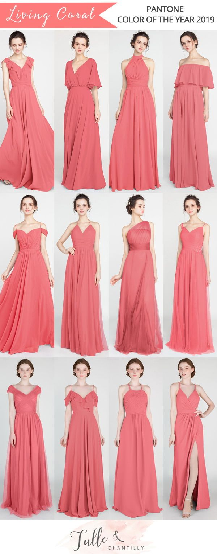 Long Short Bridesmaid Dresses 79 149 Size 0 30 And 50 Colors Coral Bridesmaid Dresses Long Coral Bridesmaid Dresses Short Bridesmaid Dresses