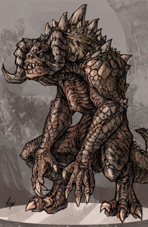 Deathclaw Concept Art Fallout 4