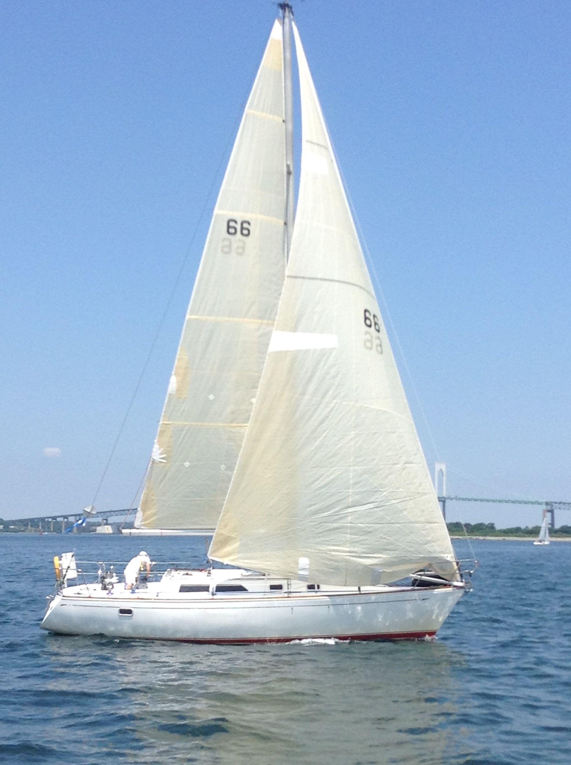 Jack C  won the Offshore 160 race using his Sailrite main