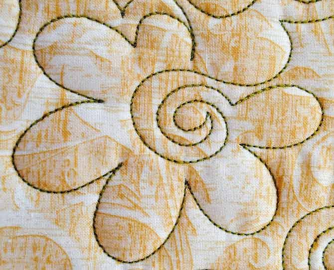 Free Motion Quilting Fun with Flowers
