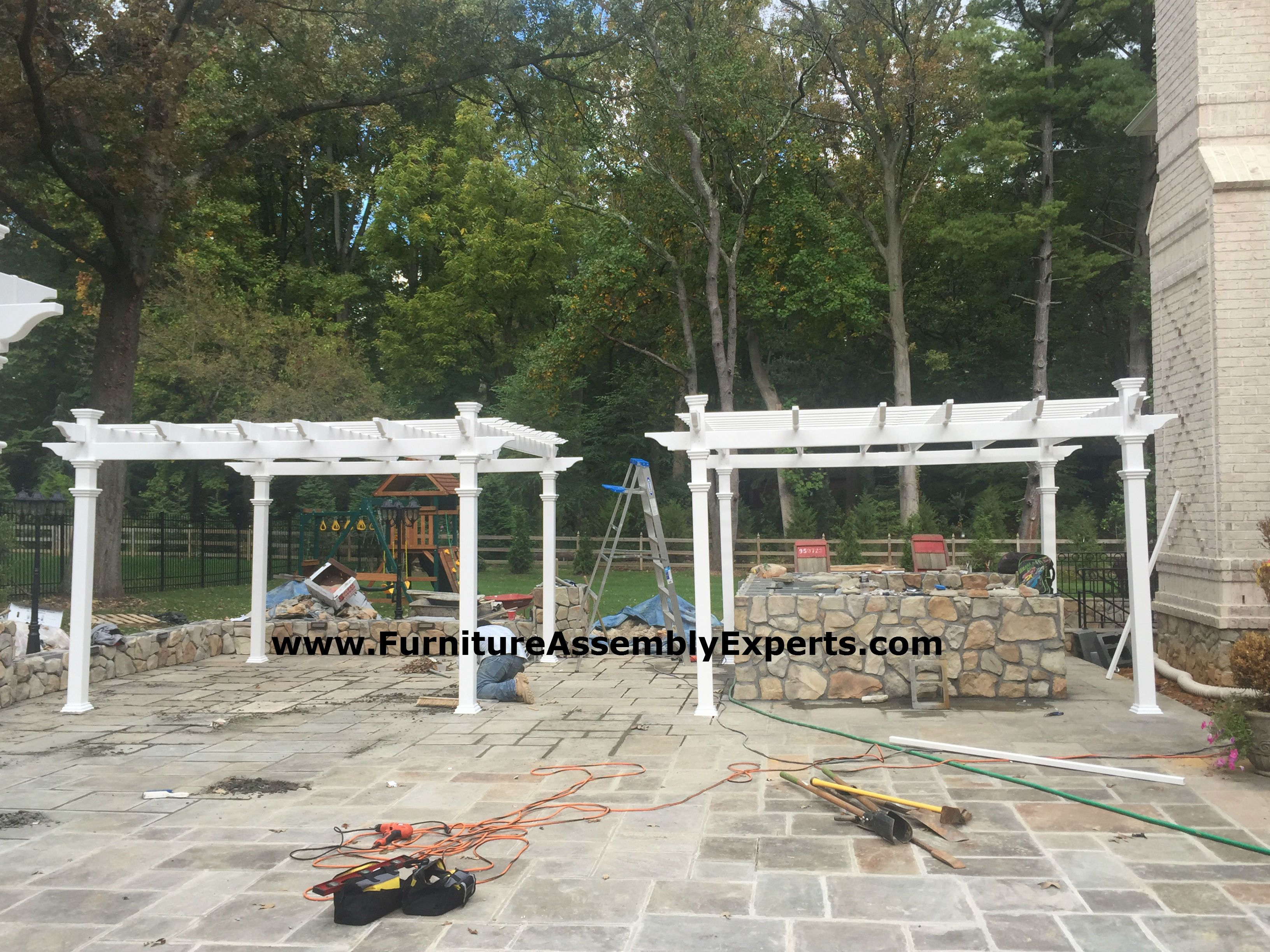 Pergola Embled For A Customer At His Home In Ellicott City Md By Furniture Embly Experts