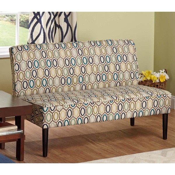 Simple Living Nolan Armless Loveseat   Overstock™ Shopping   Great Deals On  Simple Living Sofas