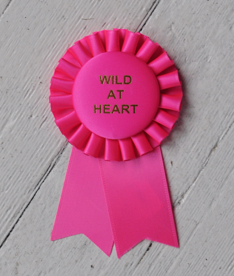 A cute rosette that would be a fun award ribbon or even a gift.