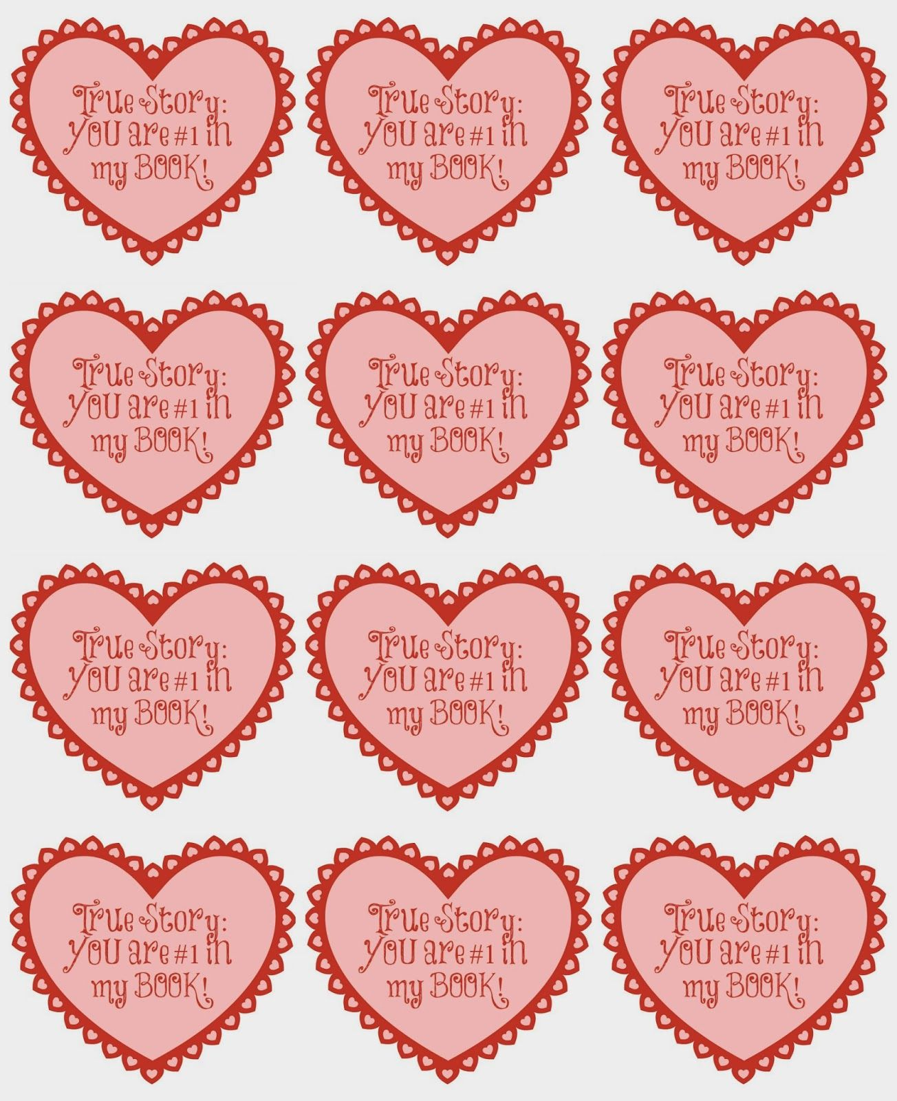 You Are 1 In My Book Free Valentine S Printable