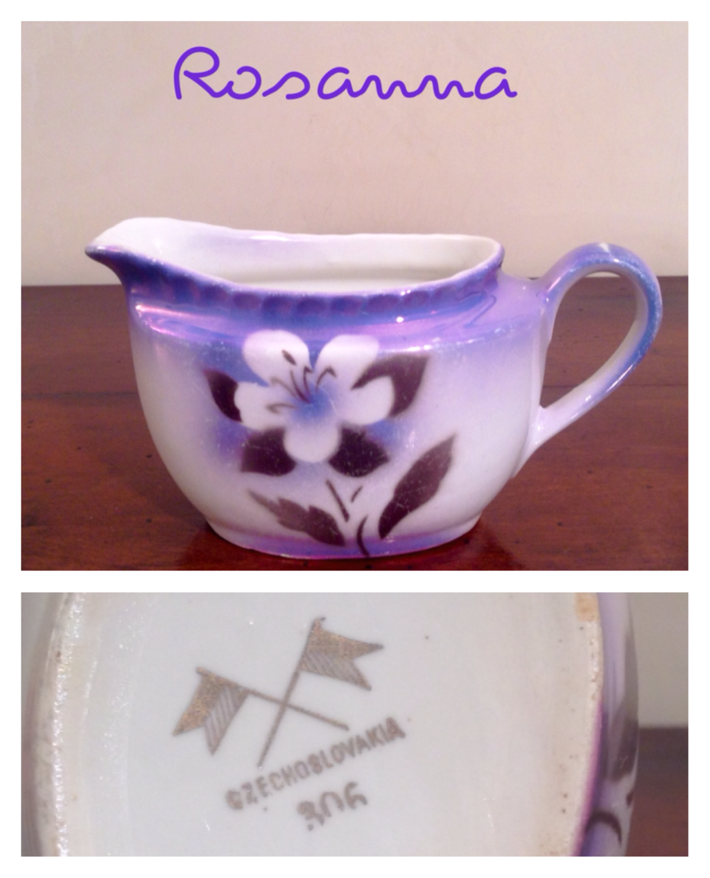lattiera  con fiore 5 - marchio CZECHOSLOVAKIA