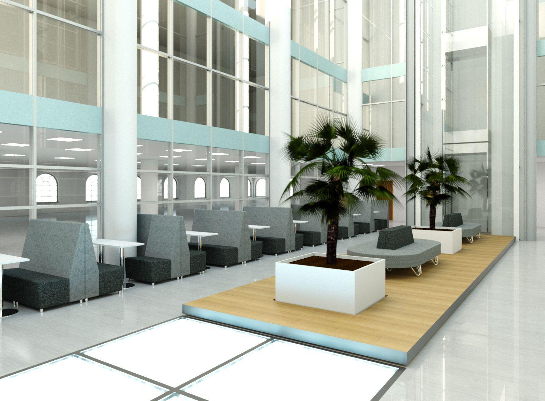 Atrium Interior Design Proposal  Reception furniture, Atrium